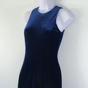 Papell Boutique Evening navy blue maxi dress